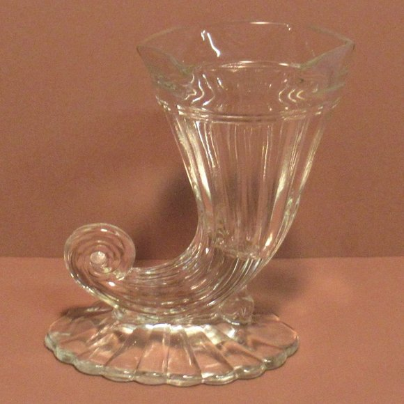 Vintage Cornucopia Horn Of Plenty Vase